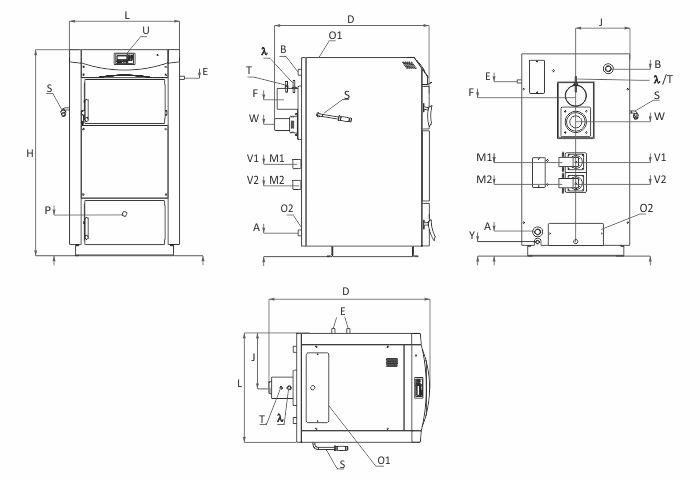 Технически характеристики на Пиролизен котел BURNiT PyroBurn Lambda
