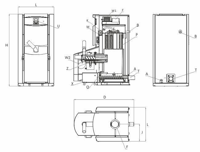 Технически характеристики на Пелетен котел BURNiT PelleBurn