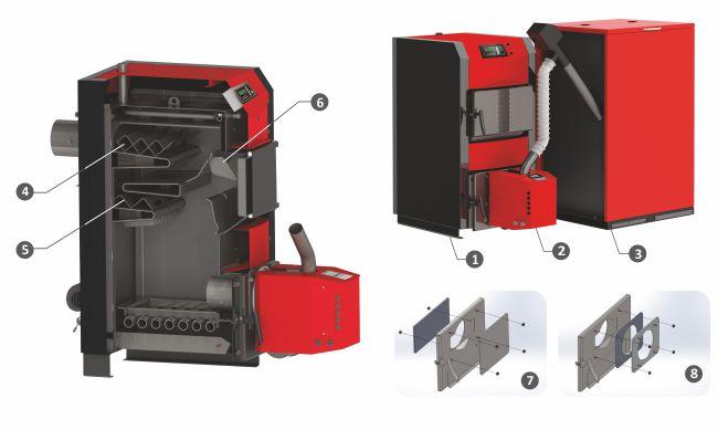 Комплект Пелетен котел BURNiT WBS Active - Pell