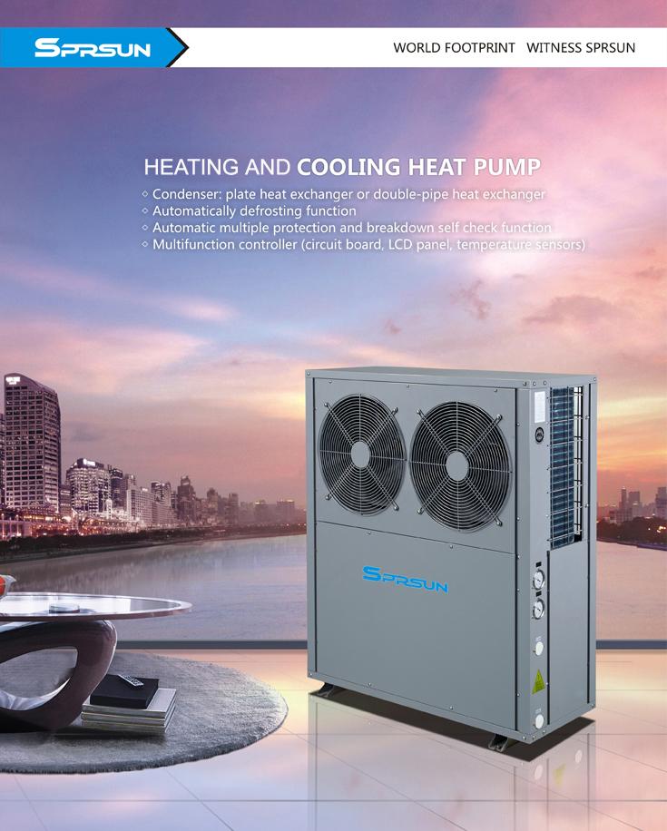 Термопомпа SPRSUN въздух вода за Отопление и Охлаждане