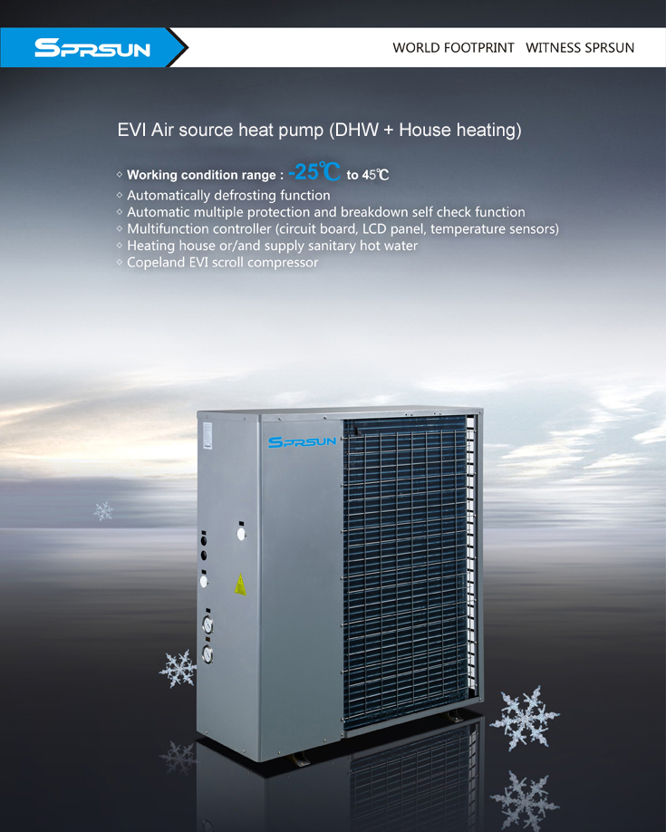 Термопомпа Тринити EVI до -25 градуса