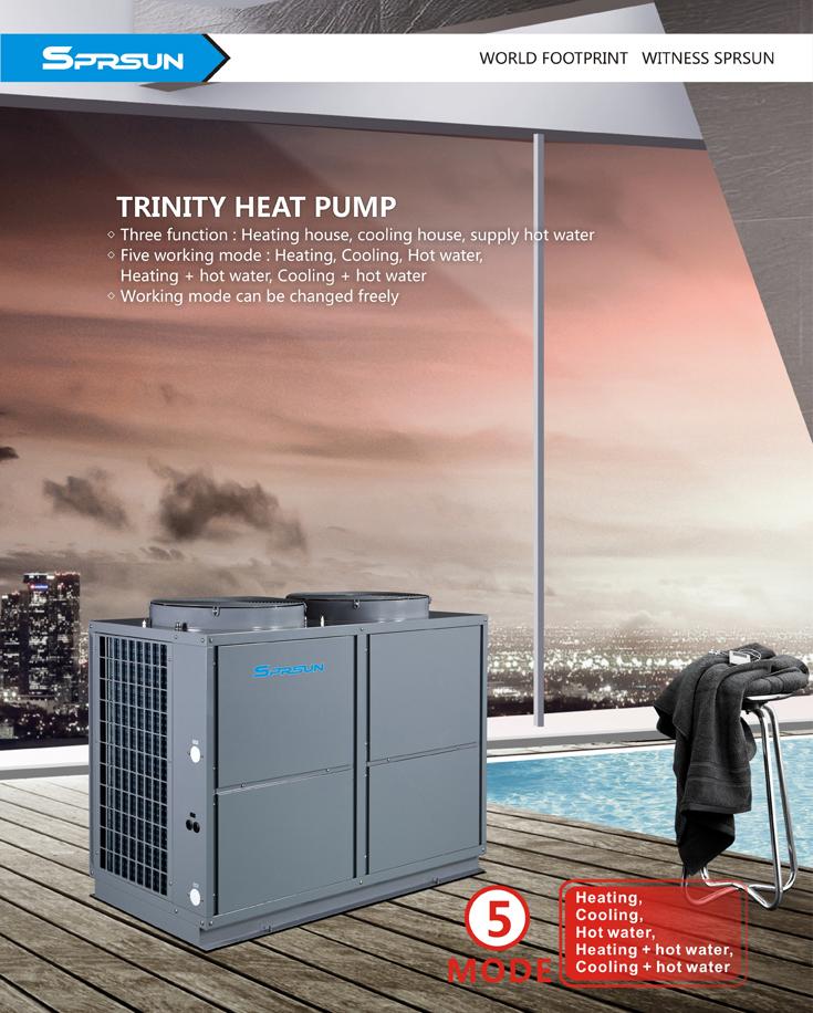 Функции на Термопомпа въздух вода Тринити EVI Серия