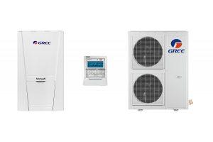 Термопомпа Gree въздух вода Versati пълен комплект
