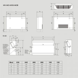 Вентилаторен конвектор Klimafan MV за подов монтаж