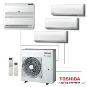 Мултисплит система Toshiba RAS-4M27S3AV-E - външно тяло
