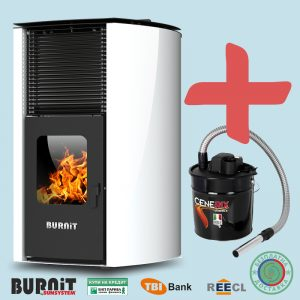 Пелетна камина BURNiT Advant 25 kW с водна риза