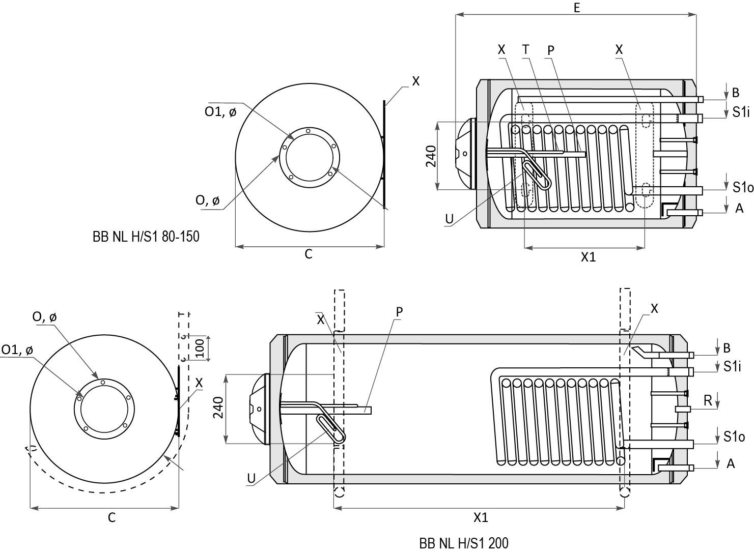 Технически характеристики на Битов бойлер BB S1