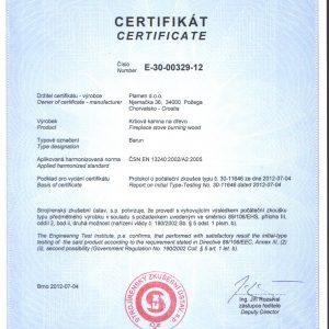 Чугунена Камина Plamen Barun 11kW - Декларация за съответствие