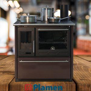 Готварска печка с водна риза Plamen Termo Glas 15kW