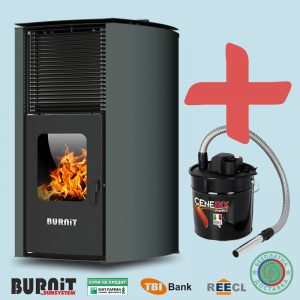 Пелетна камина BURNiT Advant 18 kW с водна риза