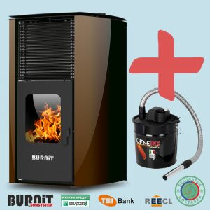 Пелетна камина BURNiT Advant 13 kW с водна риза