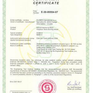 Сертификат Dora N8