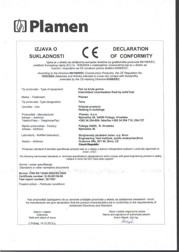 Свали Декларация за съответствие