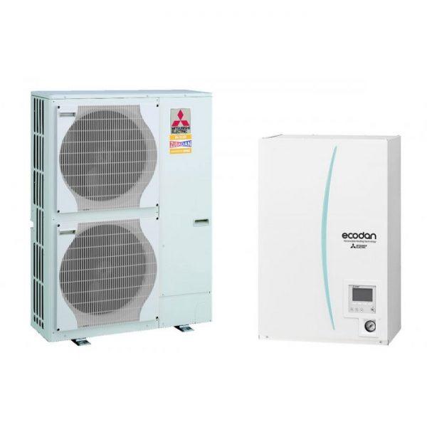 Термопомпа Mitsubishi Electric ERSC-VM2C/PUHZ-SHW140YHA ZUBADAN, 14 kW, отопление, охлаждане и БГВ