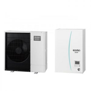 Термопомпа Mitsubishi Electric ERSC-VM2C/PUHZ-SW100YAA, 11 kW, отопление, охлаждане и БГВ