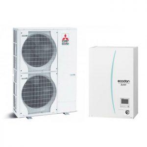 Термопомпа Mitsubishi Electric ERSC-VM2C/PUHZ-SW120VHA, 16 kW, отопление, охлаждане и БГВ