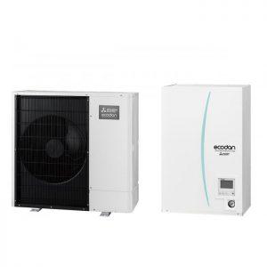 Термопомпа Mitsubishi Electric ERSC-VM2C/PUHZ-SW75VAA, 8 kW, отопление, охлаждане и БГВ