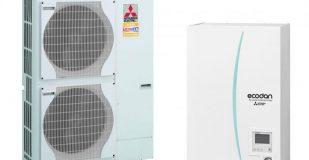 Термопомпа Mitsubishi Electric ERSE-YM9EC/PUHZ-SHW230YKA ZUBADAN, 23 kW, отопление, охлаждане и БГВ