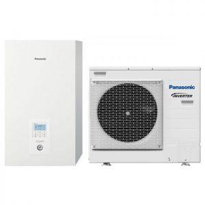 Термопомпа Panasonic Aquarea WH-SDC09H3E5-1/WH-UD09HE5-1, 9 kW, отопление, охлаждане и БГВ