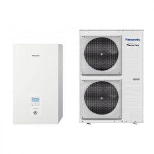 Термопомпа Panasonic Aquarea WH-SXC12H6E5/WH-UX12H6E5 T-CAP, 12 kW, отопление, охлаждане и БГВ
