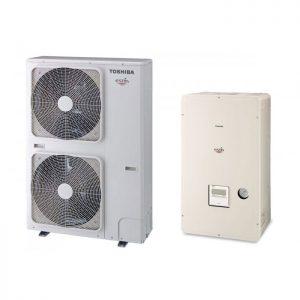 Термопомпа Toshiba Estia HWS-P1104XWHT9-E/HWS-P1104HR-E, 18 kW